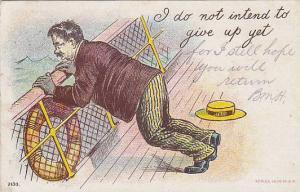 Ocean Liner Sea-Sick Comic postcard , 00-10s