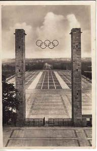 Germany Reichsportfeld 1936 Olympics  Pharmaceutical Ad Card