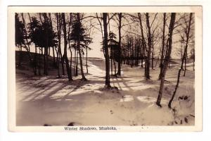 Real Photo, Snow, Winter Shadows, Muskoka, Ontario, Photo Thatcher Studio
