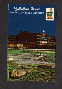 CO Holiday Inn Hotel Motel Denver Colorado Postcard Airport Airplanes