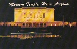 Arizona Mesa The Mormon Temple At Night