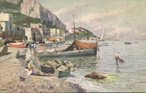 italy, CAPRI, Marina Grande (1920s) Artist Signed