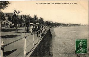 CPA  St-Nazaire - Le Boulevard de l'Océan et la Jetée  (588087)