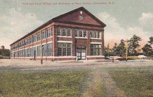 CHARLESTON, South Carolina, 1900-1910s; Yard And Dock Offices And Workshop At...