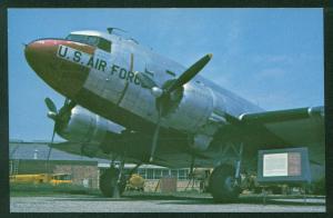 Douglas C-47 Skytrain WWII Airplane USAF Museum Postcard