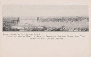 BROOKLYN EAGLE # 278, PANORAMIC VIEW OF BROOKLYN, GREENPOINT TO FT. GREENE, NYC