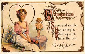 Reproduction St. Valentines Day Postcard Unused