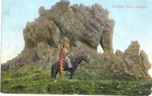 Indians at Elephant Rock, Oregon, OR, 1909 Divided Back