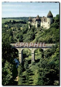 Postcard Modern Berry Chateau Culan Arlon Dominating the Fortress of Culan