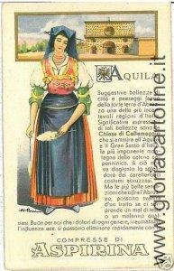 01950  CARTOLINA d'Epoca:  L'AQUILA Citta': PUBBLICITARIA