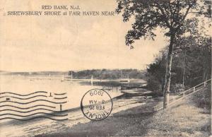 Red Bank New Jersey Shrewsbury Shore Waterfront Antique Postcard K96725