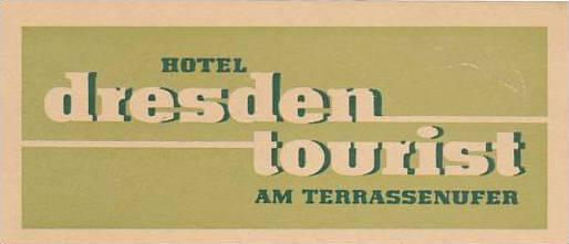 GERMANY DRESDEN HOTEL TOURIST VINTAGE LUGGAGE LABEL