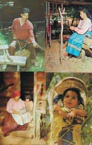 Lot of 4 American Indian Pictrure Postcards - HL-06