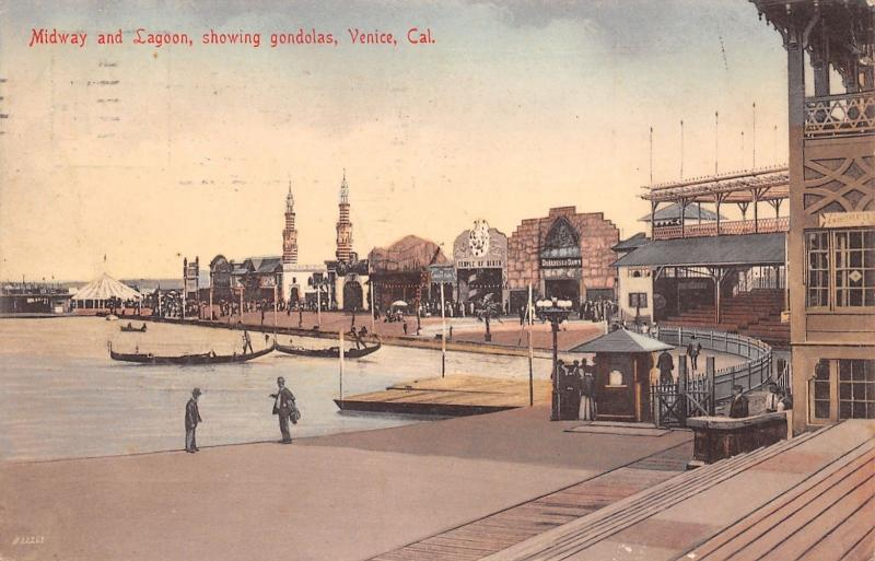 Venice CA Amphitheater~Tix Booth~Darkness & Dawn~Temple of Mirth Fun House~1907