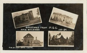RP: BUTTE , Montana, 1900-10s ; MSC 4 view postcard