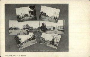Attleboro MA 1905 Multi View Postcard