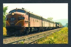 NY Lehigh Valley Railroad Train Loco 516 Alpine New York RR Postcard