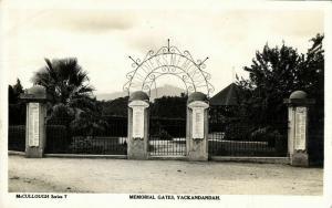 australia, YACKANDANDAH, Victoria, Memorial Gates (1940s) RPPC