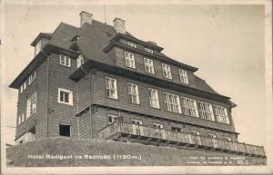 Czech Republic Radhošť Hotel Radigast Na Radhosti RPPC 02.90