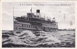 R. & O. Steamer, Rapids King, in Lachine Rapids,  Montreal,  Quebec,  Canad...