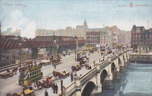 Glasglow Bridge, Street Cars, Horse-drawn Wagons, Scotland, United Kingdom, 0...