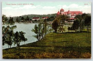 Lake Beula Wisconsin~Hotel Beula on Waterfront~Burnt Down 1911~I was Alone~c1909