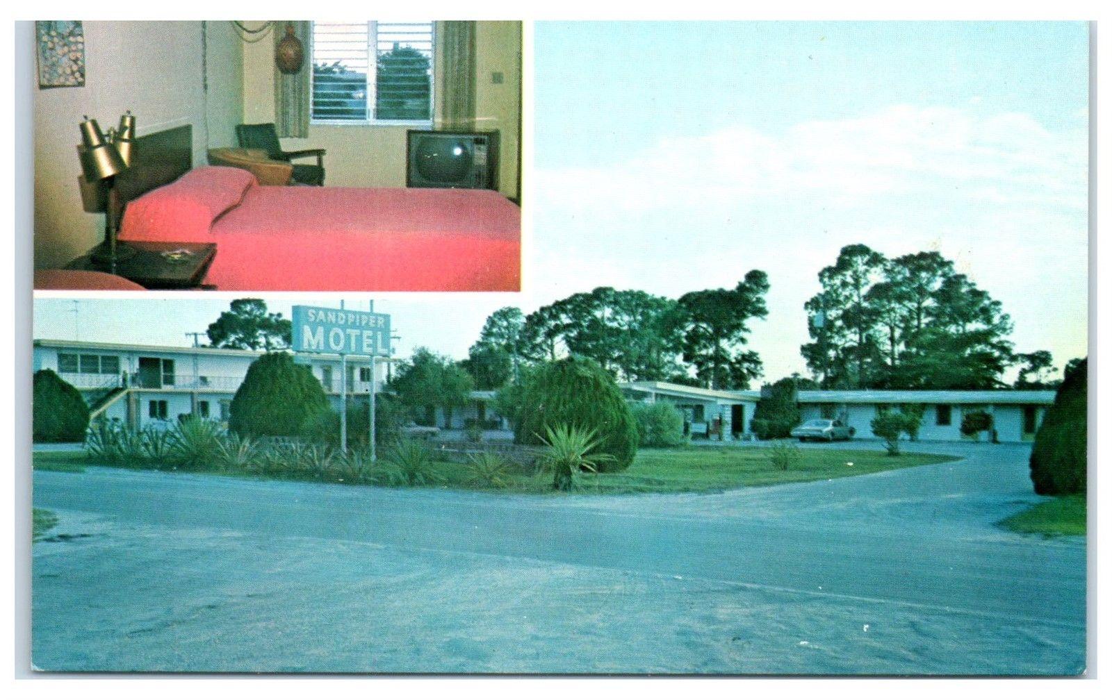 1950s Sand Piper Motel Port Charlotte Fl Postcard Hippostcard