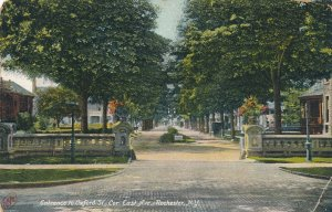 Entrance to Oxford Street from East Avenue - Rochester NY, New York - DB