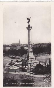 France Bordeaux Colonne des Girondins Real Photo