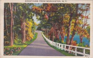 New York Greetings From Worcester 1947
