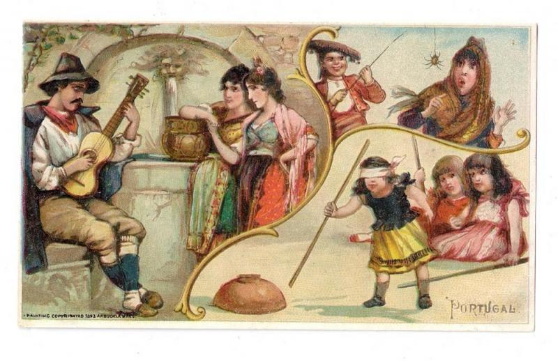 Arbuckle Coffee Trade Card 1893 Portugal Sports # 11