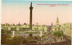 UK Trafalgar square showing new fountains London 01.54