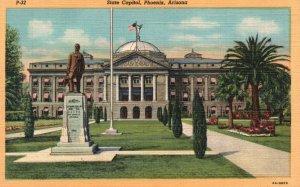 Phoenix, Arizona, AZ, State Capitol, 1936 Linen Vintage Postcard g5711