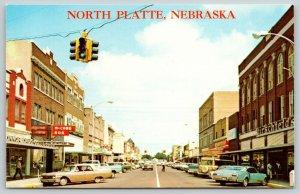 North Platte Nebraska~McCabe Bar~Connor Drug Co~Hirschfelds~c1970 PC
