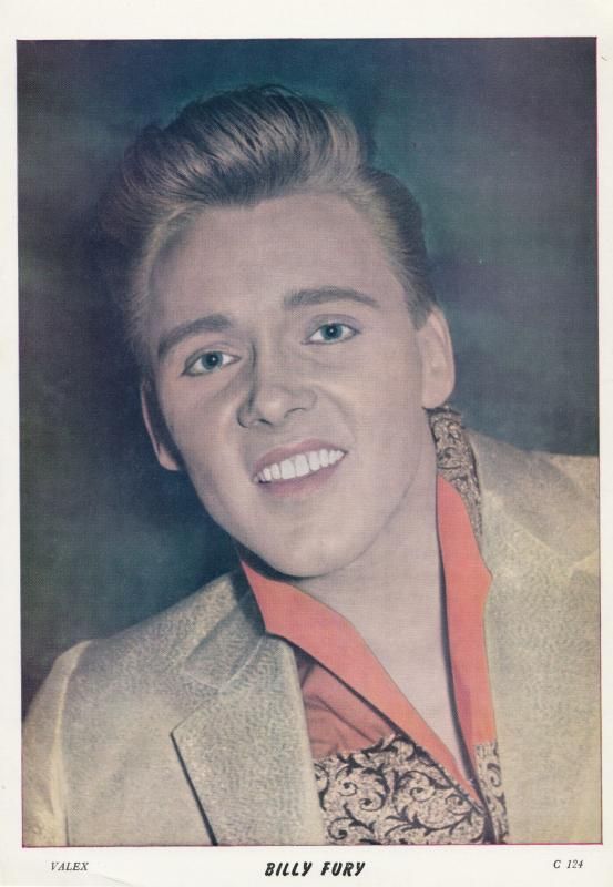 Billy Fury Valex Blackpool Vintage Rare 8x6 Publicity Photo Photograph