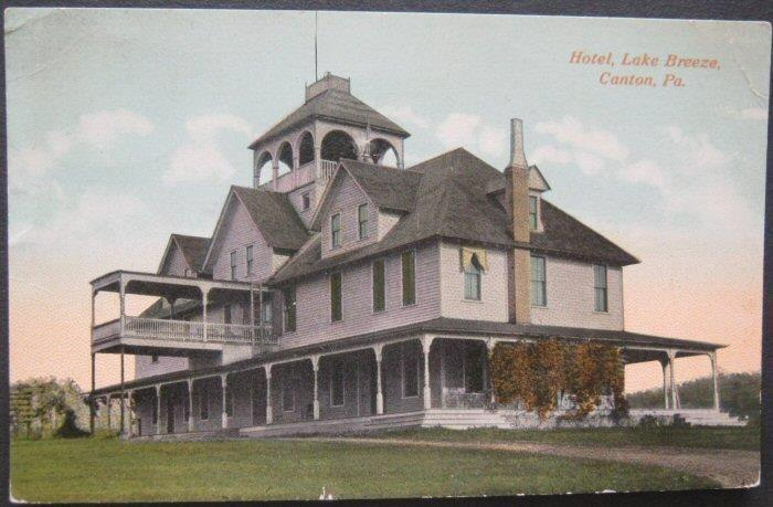 Hotel Lake Breeze Canton PA 1915 Walter Coon 35903