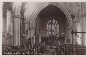 Tickhill Church Nr Doncaster Yorkshire Real Photo Old Postcard