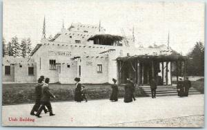 1909 AYPE Seattle World's Fair Official Postcard Utah Building Front View