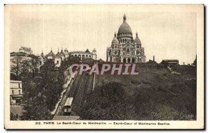 Old Postcard Paris The Sacre Coeur of Montmartre