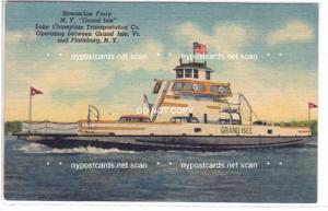 Ferry, M.V. Grand Isle, Plattsburg NY