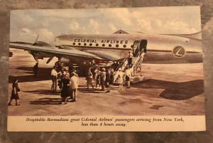 1950's Colonial Airlines  Postcard