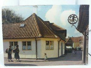 Vintage Postcard Hans Christian Anderson House Odense Denmark