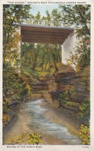 Indiana The Shades Rustic Bridge Across The Punch Bowl Curteich