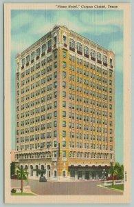 Corpus Christi Texas~Plaza Hotel~1943 Linen Postcard