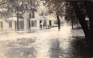 D31/ Albany Wisconsin Wi Postcard Real Photo RPPC 1915 Flood Disaster Home 4