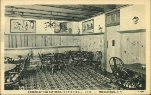 MIddletown NY Mitchell Inn Tap Room Old Postcard