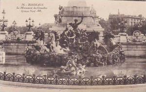 France Bordeaux Monument des Girondins Groupe Nord