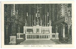 Italy, PADOVA, Basilica del Santo, Altare Maggiore, 1935 used Postcard