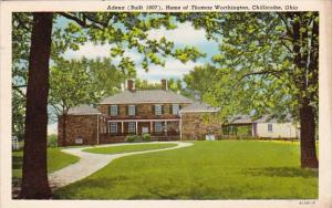 Adena Home Of Thomas Worthington Chillicothe Ohio 1955