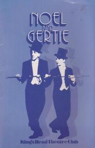 Noel & Gertie Joanna Lumley Musical Theatre Islington London Programme